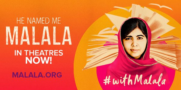 RT @MalalaFund: #HeNamedMeMalala is in theatres in…